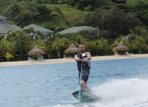 Wakeboarding in Turquoise Bay with Never Winter on Roatan